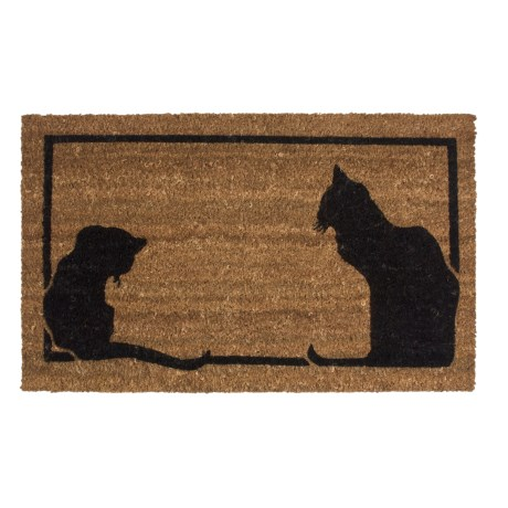 Imports Unlimited Cat Silhouettes Entry Mat - Coir, 18x30""