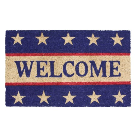 Imports Unlimited Patriotic Welcome Entry Mat - Coir, 18x30""