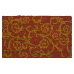 """Imports Unlimited Twirls Entry Mat - Coir, 18x30"""""""