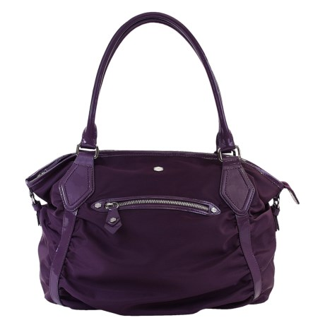 Lodis Pia Sabrina Satchel Purse - Nylon, Patent Leather (For Women)