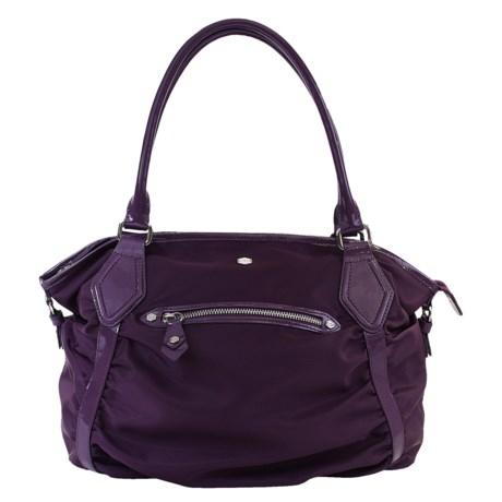 Lodis Pia Sabrina Satchel Purse - Nylon, Patent Leather (For Women)