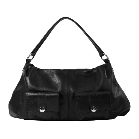 Lodis Tab Chic Heather Hobo Purse - Pebbled Leather (For Women)