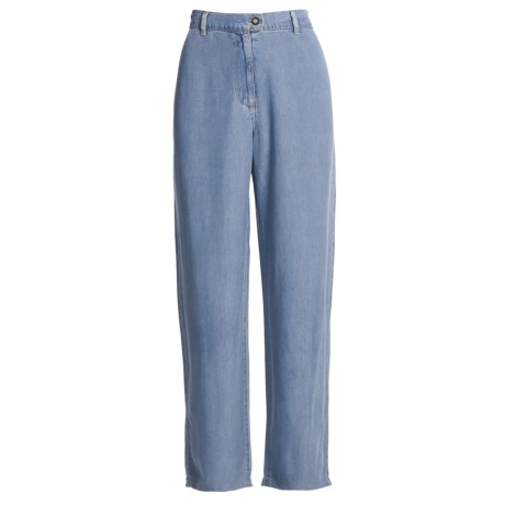 Pulp Rayon Flat Front Jeans (For Women)