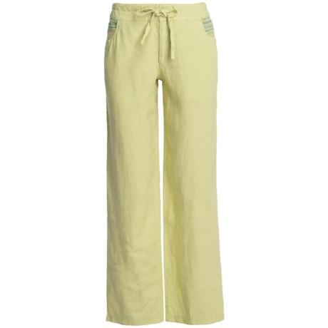 Pulp Linen Drawstring Pants (For Women)