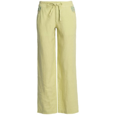 Awesome Closeouts These Antibes Blanc Pants Are Just Right For All Your Easygoing Summertime Gettogethers In Soft, Lightasacloud Linen With A Flat Drawstring Front And A Smockedelastic Back Waistband That Together Create A Custom, Super