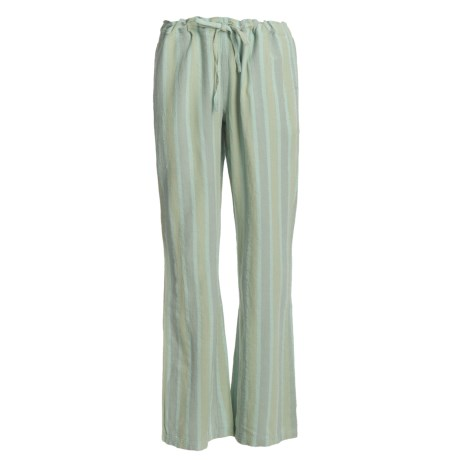 Pulp Stripe Linen Pants (For Women)