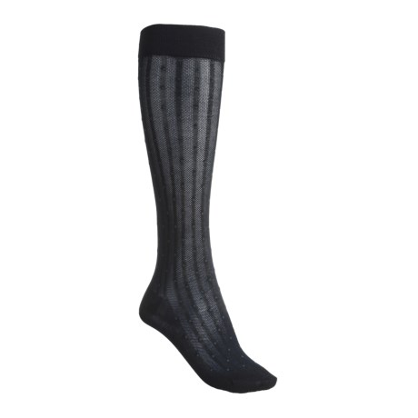 ECCO Pin-Dot Knee-High Trouser Socks - Over-the-Calf (For Women)
