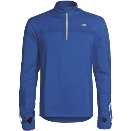 New Balance MegaHeat® Competitor Shirt - Zip Neck, Long Sleeve (For Men)