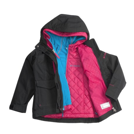 Columbia Sportswear Chic to Peak Jacket - 3-in-1 (For Little Girls)