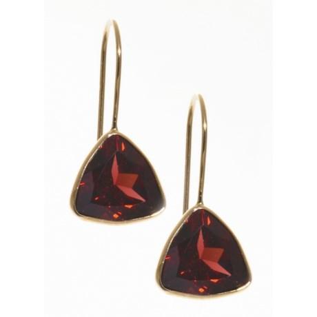 Millennium Creations 14K Gold and Garnet Earrings