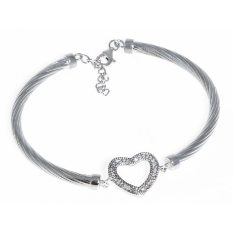 Millennium Creations Heart Bracelet - Sterling Silver