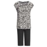 Calida Wave Capri Pajamas - Stretch Micromodal® Jersey, Short Sleeve (For Women)