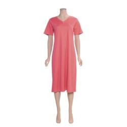 Calida Water Garden Nightshirt - Interlock Cotton, Short Sleeve (For Women)