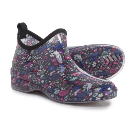 Capelli Shiny Garden Ditsy Ankle Rain Boots - Waterproof, Slip-Ons (For Women)