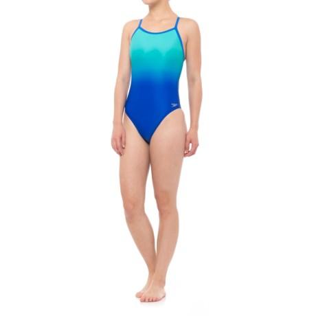 Speedo Ombre Print Flyback Swimsuit (For Women)