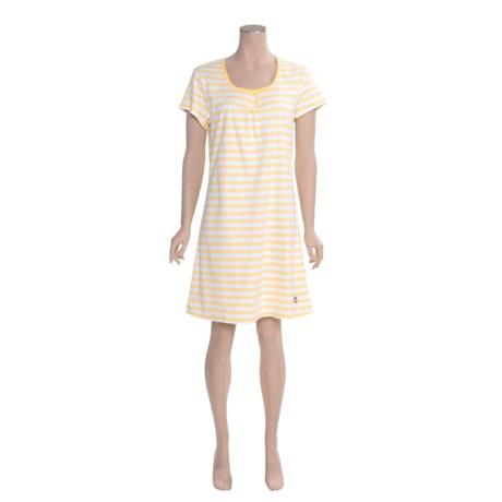 Calida Sao Paulo Nightshirt - Interlock Cotton, Short Sleeve (For Women)