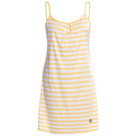 Calida Sao Paulo Nightgown - Interlock Cotton, Spaghetti Strap (For Women)