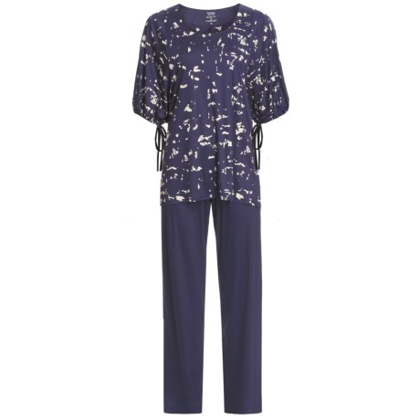 Calida Blue Lagoon Pants Pajamas - Micromodal®, Short Sleeve (For Women)