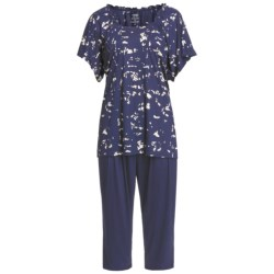 Calida Blue Lagoon Capri Pajamas - Micromodal®, Short Sleeve (For Women)