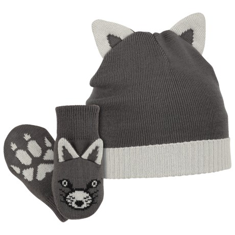 Columbia Sportswear Snow Fox Beanie Hat and Mittens Set (For Infants)