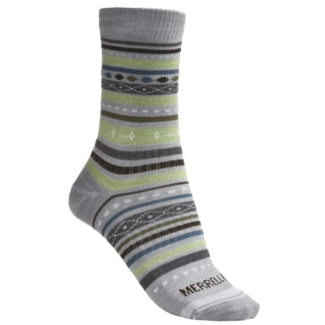 Merrell Ribbon Crew Socks - Lightweight (For Women)