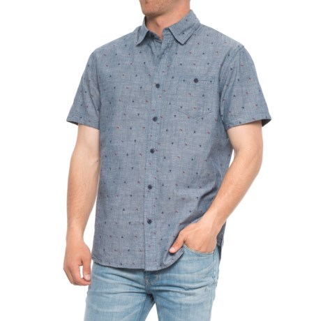 Lee Boat Print Chambray Shirt - S/S (For Men)
