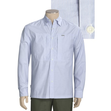 Simms Riffle Stripe Fishing Shirt - UPF 30+, Long Sleeve (For Men)