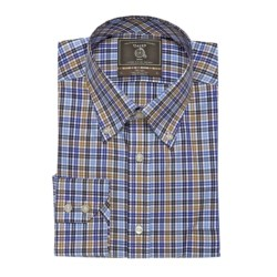 Maker & Company Fancy Multi-Check Sport Shirt - Brushed Twill, Long Sleeve (For Men)