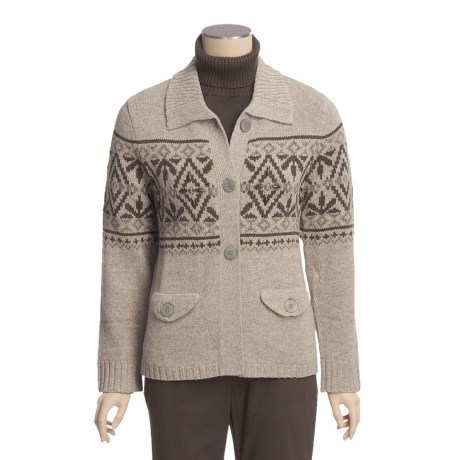 Woolrich Restless Brook Cardigan Sweater - Lambswool (For Women)