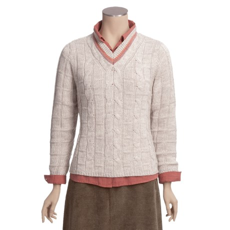Woolrich Melina V-Neck Sweater (For Women)