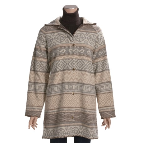 Woolrich Capote Hooded Coat - Wool Jacquard (For Women)