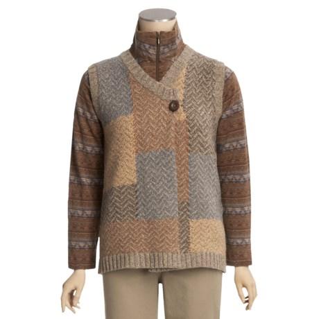 Woolrich Patchwork Herringbone Vest - Lambswool (For Women)