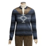 Woolrich Intarsia Cardigan Sweater - Lambswool (For Women)