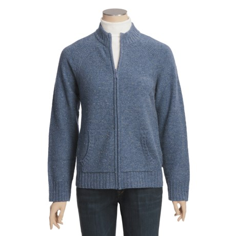 Woolrich Atglen Cardigan Sweater - Lambswool, Donegal Tweed, Full Zip (For Women)
