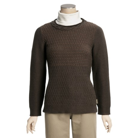 Woolrich Jaylon Sweater - Slip-Stitch Cotton (For Women)