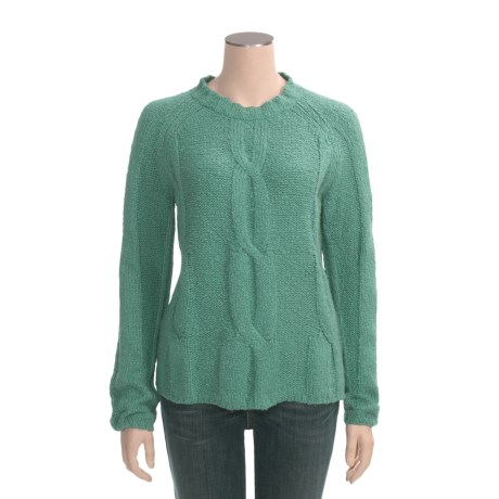 Woolrich Findale Cable Sweater - Cotton Slub Yarn (For Women)
