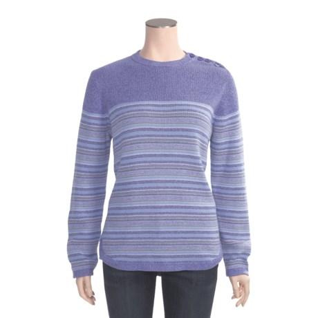 Woolrich Peaks Sweater - Cotton, Crew Neck, Long Sleeve (For Women)
