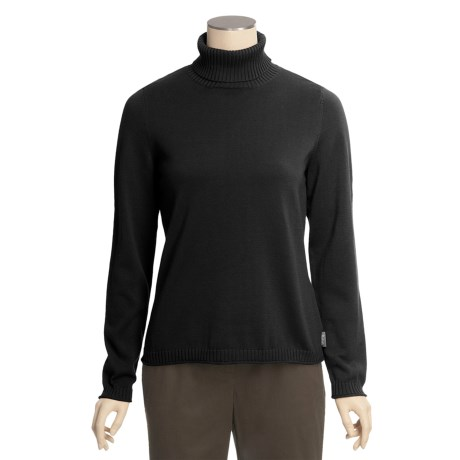 Woolrich Pinehill Turtleneck - Cotton Knit Rib, Long Sleeve (For Women)