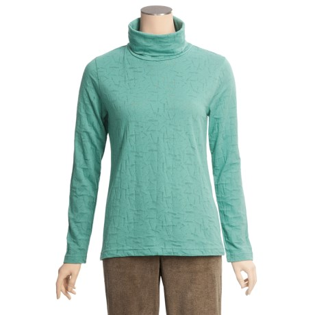 Woolrich Ridgeway Burnout Turtleneck - Cotton Jersey, Long Sleeve (For Women)