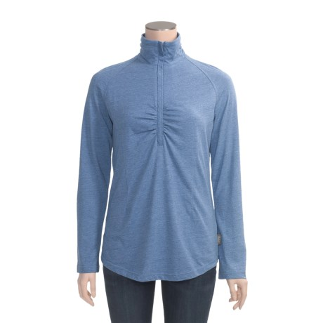 Woolrich Hudson Valley Shirt - Zip Neck, Long Sleeve (For Women)