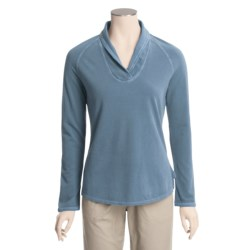 Woolrich Clarion Shirt - Cotton Crepe Knit, Shawl Collar, Long Sleeve (For Women)