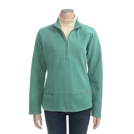 Woolrich New Highland Shirt - Sanded Cotton Fleece, Zip Neck, Long Sleeve (For Women)