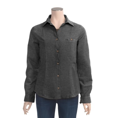 Woolrich Cotton Chamois Shirt - Button Front, Long Sleeve (For Women)