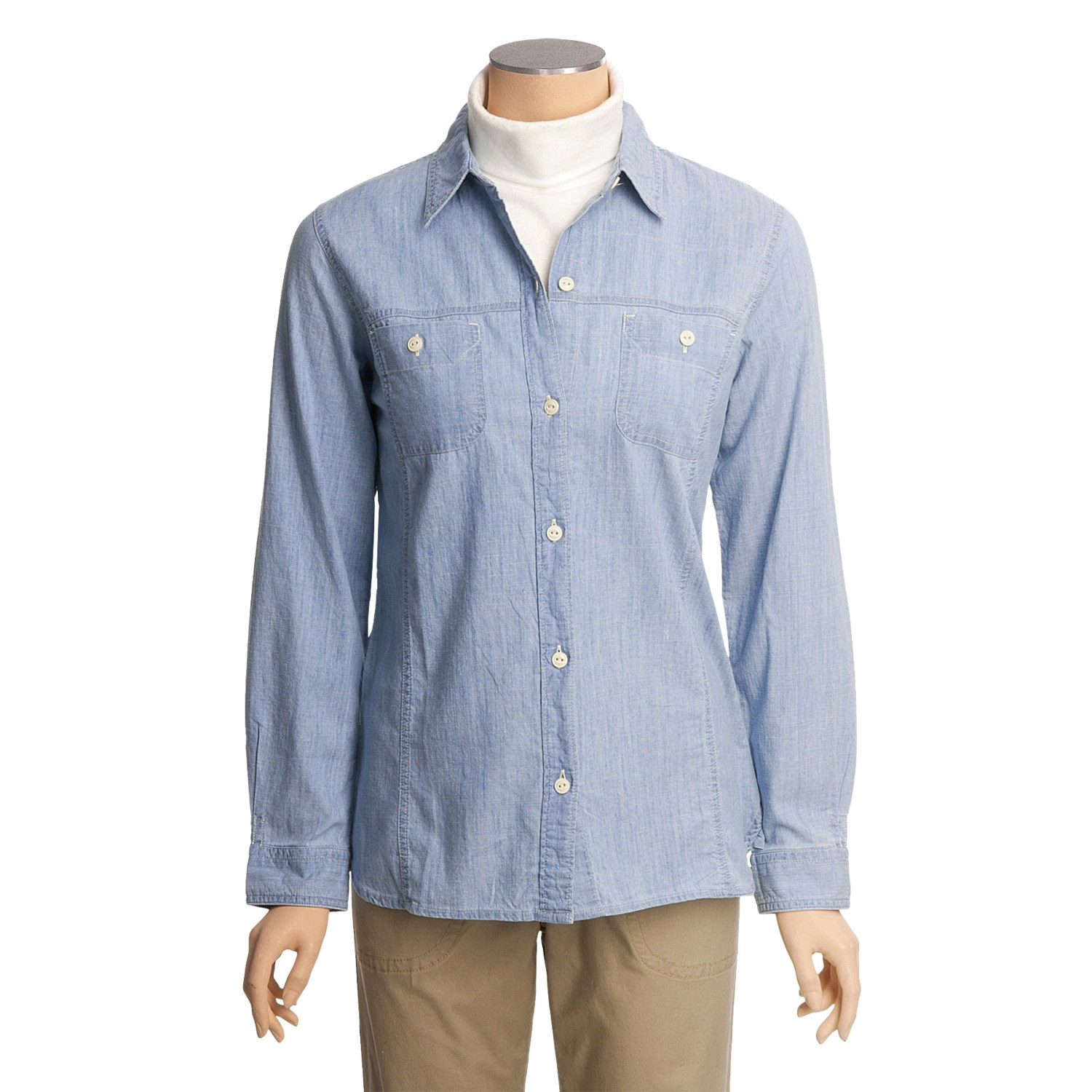 Woolrich chambray shirt for women 4459x for Chambray shirt women