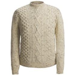 Peregrine by J.G. Glover Aran-Knit Sweater - British Wool (For Men)