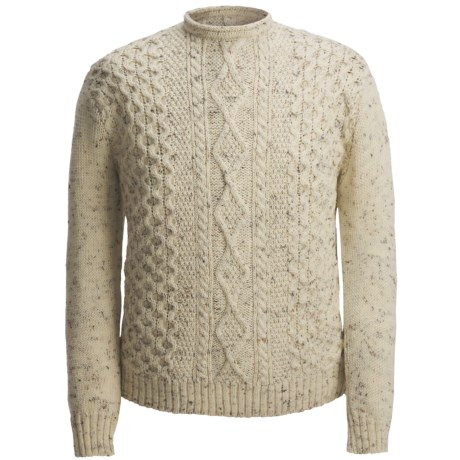 J.G. Glover & CO. Peregrine by J.G. Glover Aran-Knit Sweater - British Wool (For Men)