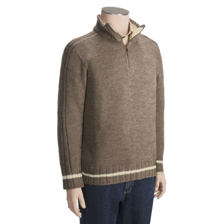 Peregrine by J.G. Glover Ribbed Saddle Shoulder Sweater - Merino Wool, Zip Neck (For Men)