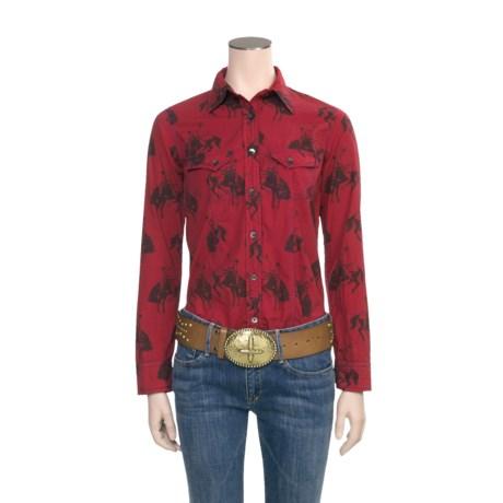 Barn Fly Trading Print Shirt - Long Sleeve (For Women)