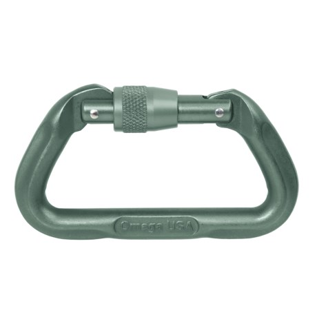 Omega Pacific Locking D Carabiner - Straight Gate