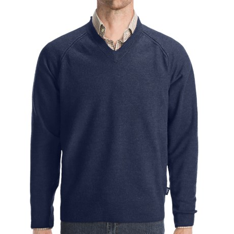 Woolrich Cross Country V-Neck Sweater - Merino Wool (For Men)